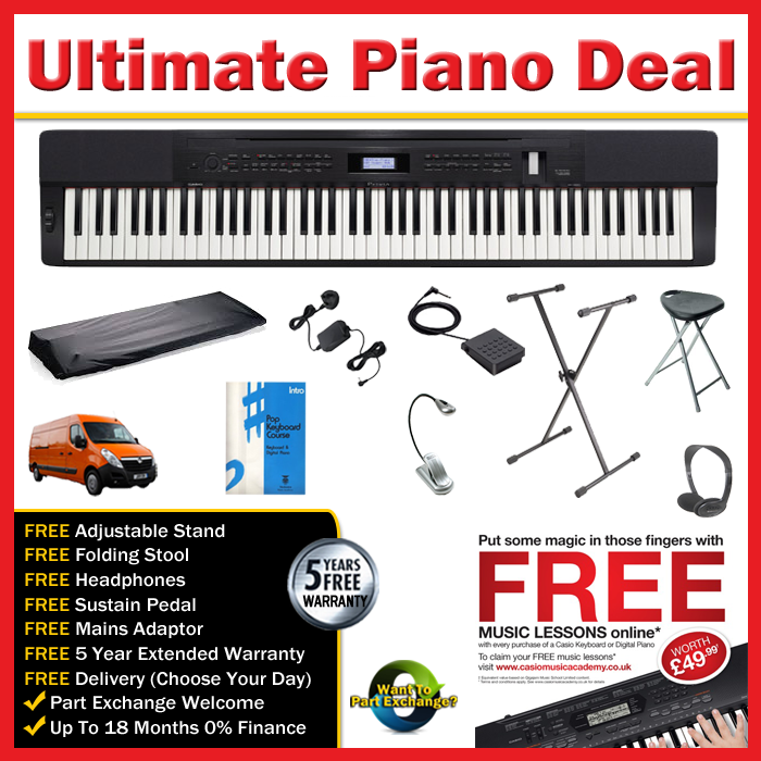 Casio Px350 Black Portable Piano
