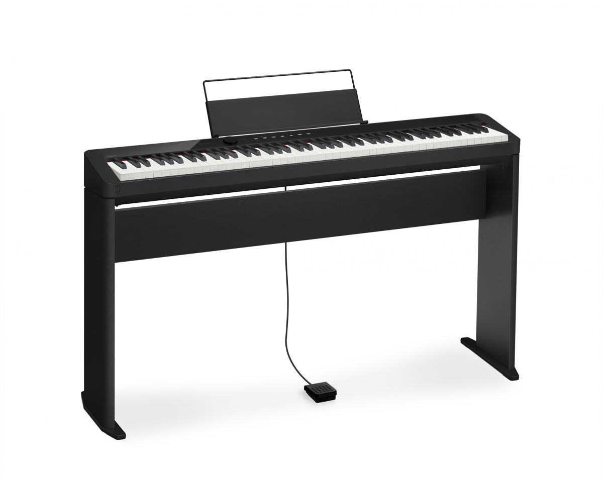 casio privia px s1000 black digital piano with home stand. Black Bedroom Furniture Sets. Home Design Ideas