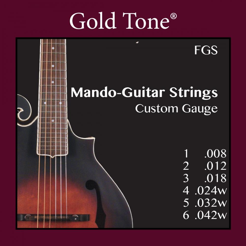 gold tone fgs mando guitar custom gauge strings. Black Bedroom Furniture Sets. Home Design Ideas