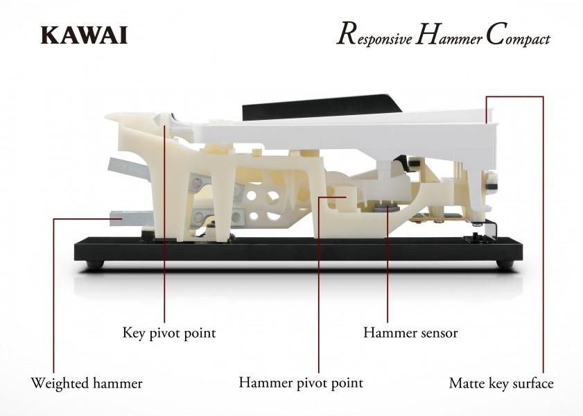 kawai es110 black portable digital piano. Black Bedroom Furniture Sets. Home Design Ideas