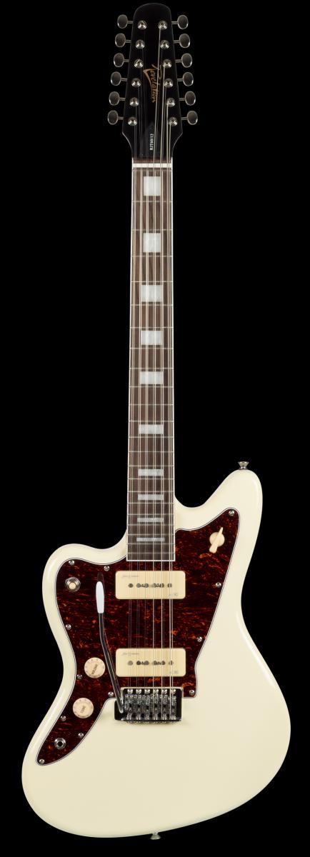 revelation rjt60 left hand vintage white 12 string electric guitar. Black Bedroom Furniture Sets. Home Design Ideas