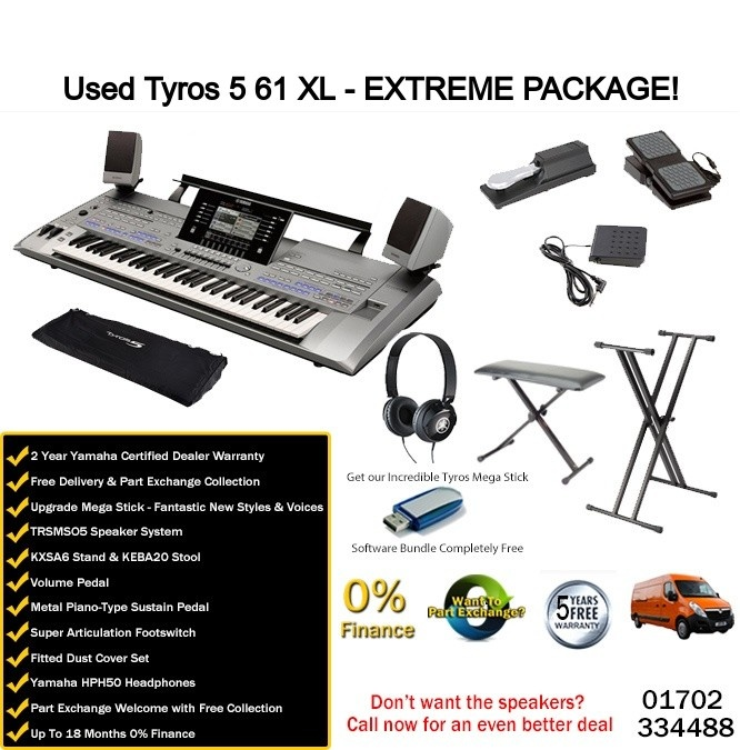 Yamaha Tyros 5 61 Note XL Extreme Package