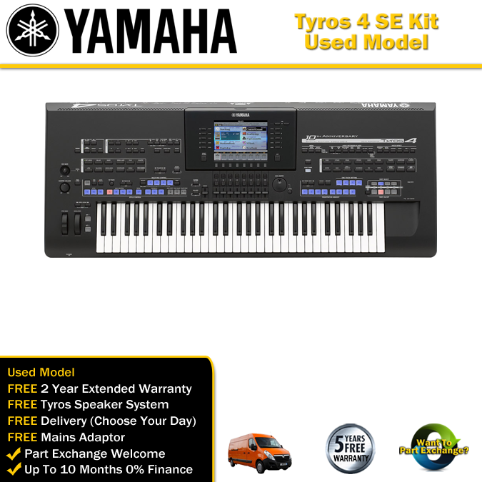 used yamaha tyros 4 special edition (including speakers)