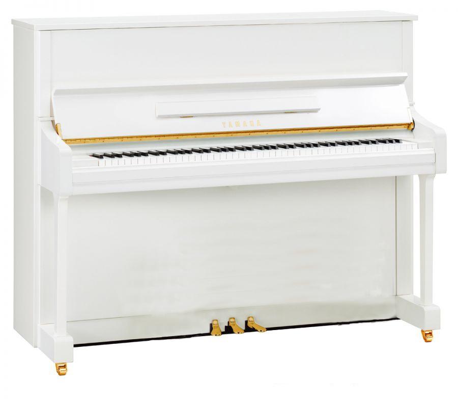 Yamaha P116M Polished White Upright Piano