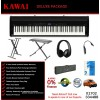 Kawai ES8 Glossy Black Portable Digital Piano Deluxe Package