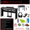 Kawai ES8 Glossy Black Portable Digital Piano Home Deluxe Package