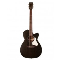 A&L Legacy Faded Black Electro-Acoustic Cutaway Guitar With Q-Discrete Pickup