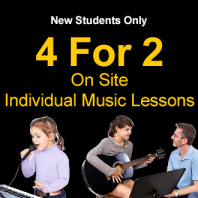 4 For 2 New Student Offer - Individual Lessons