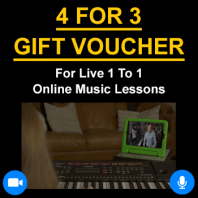 4 for 3 Online Lessons Gift Voucher