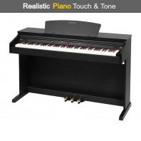Broadway EZ-102 Black Satin 88 Note Weighted Home Piano