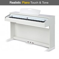 Broadway EZ-102 White Satin 88 Note Weighted Home Piano