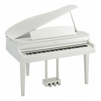 Yamaha CLP665 Polished White Digital Grand Piano Only