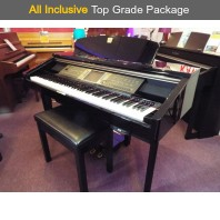Used Yamaha CVP210 Polished Ebony Digital Piano Complete Package