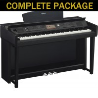 Used Yamaha CVP705 Black Walnut Digital Piano Complete Package