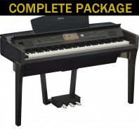 Used Yamaha CVP709 Black Walnut Digital Piano Complete Package