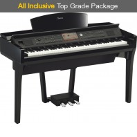 Used Yamaha CVP709 Polished Ebony Digital Piano Complete Package