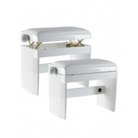 Dexibell Adjustable Wooden Bench Matt White