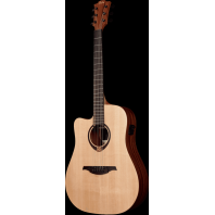 Lag Tramontane Left Handed Dreadnought Cutaway Guitar TL70DCE