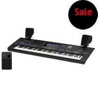 Used Yamaha Genos 76 Note Keyboard & Speakers