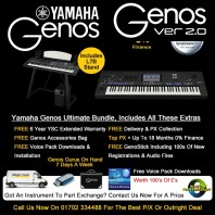 Yamaha Genos 76 Note Ultimate Bundle Keyboard, Speakers & L7 Stand