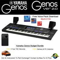 Yamaha Genos 76 Note Budget Bundle Keyboard, Speakers & L7 Stand