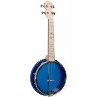 Gold Tone Sapphire Little Gem See-Through Banjo-Ukulele