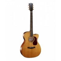 Cort Gold-OC6 Natural Glossy Orchestral Venetian Cutaway Electro-Acoustic Guitar