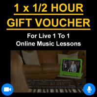 1 x 1/2 Hour Online Lessons Gift Voucher