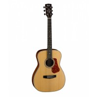 Cort L100C Natural Satin Concert Body Acoustic Guitar