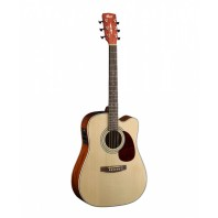 Cort MR500E Natural Gloss Top Dreadnought Cutaway Electro-Acoustic Guitar