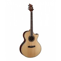 Cort NDX50 Natural Glossy Florentine Cutaway Electro-Acoustic Guitar