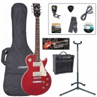 Encore E99 Electric Wine Red Guitar Starter Pack EBP-E99WR