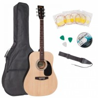 Encore Natural Dreadnought Acoustic Guitar Pack EWP-100N
