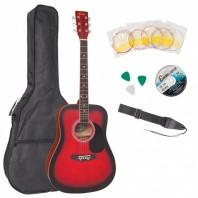 Encore Redburst Dreadnought Outfit Acoustic Guitar Pack EWP-100RB