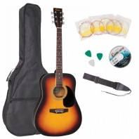 Encore Sunburst Dreadnought Outfit Acoustic Guitar Pack EWP-100SB