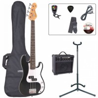 Encore E20 7/8 Size Black Bass Guitar Pack EBP-E20BLK