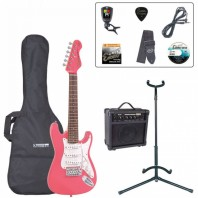 Encore Pink 3/4 Size Electric Guitar Pack EBP-E375PK