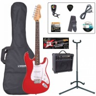 Encore E6 Series Red Electric Guitar Pack EBP-E6RED