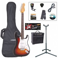Encore E6 Series Sunburst Electric Guitar Pack EBP-E6SB
