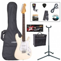 Encore E6 Series Vintage White Electric Guitar Pack EBP-E6VW