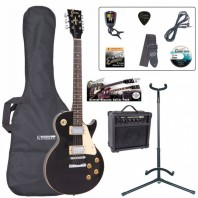 Encore E99 Electric Gloss Black Guitar Starter Pack EBP-E99BLK