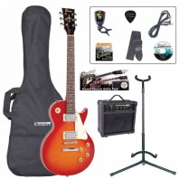 Encore E99 Electric Cherry Sunburst Guitar Starter Pack EBP-E99CSB