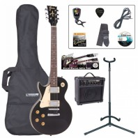 Encore E99 Left Handed Electric Gloss Black Guitar Starter Pack EBP-LHE99BLK