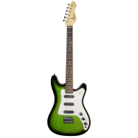 Revelation RD-1 Greenburst Flame Double Cutaway Electric Guitar