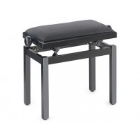 Stagg High Gloss Black Velvet Top Adjustable Height Piano Stool