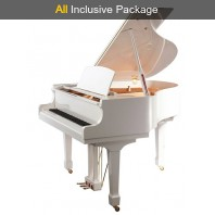 Steinhoven SG148 Polished White Baby Grand Piano All Inclusive Package