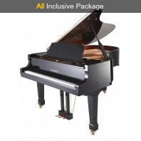 Steinhoven SG148 Polished Ebony Baby Grand Piano All Inclusive Package