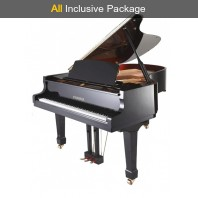 Steinhoven SG160 Polished Ebony Baby Grand Piano All Inclusive Package