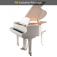 Steinhoven SG160 Polished White Baby Grand Piano All Inclusive Package