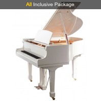 Steinhoven SG170 Polished White Grand Piano All Inclusive Package
